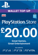 PlayStation Wallet Top-Up £20 GBP. UK PSN. Konta papildināšana.