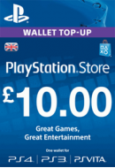 PlayStation Wallet Top-Up £10 GBP. UK PSN. Konta papildināšana.
