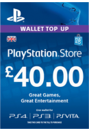 PlayStation Wallet Top-Up £40 GBP. UK PSN. Konta papildināšana.