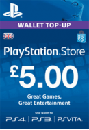 PlayStation Wallet Top-Up £5 GBP. UK PSN. Konta papildināšana.