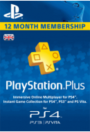 PlayStation Plus abonements uz 12 mēnešiem. UK PSN 365 days