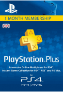 PlayStation Plus abonements uz 1 mēnesi. UK PSN