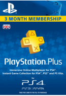PlayStation Plus abonements uz 3 mēnešiem. UK PSN 90 days